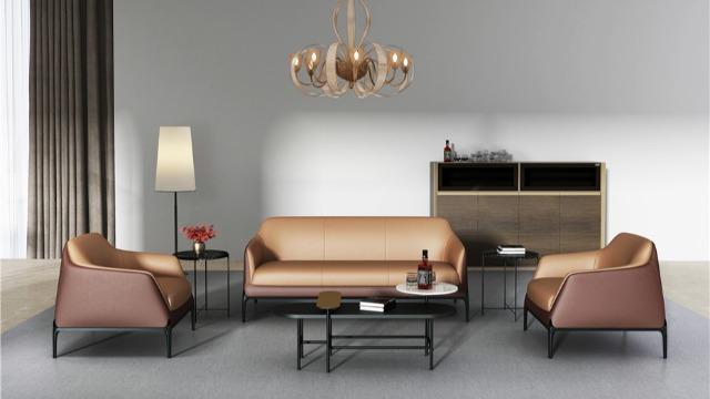 梵创意智系列真皮沙发